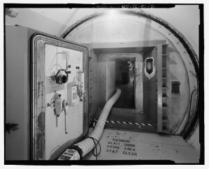 Blast Door and Entry into Control Capsule (U.S. Government public domain image)