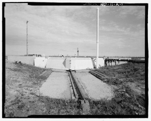 Missile Silo Cover In the moments before launch of the missile, the 110-ton silo cover is slid open on rails by a piston assembly that's activated by ballistic gas generators. (U.S. Government public domain image)